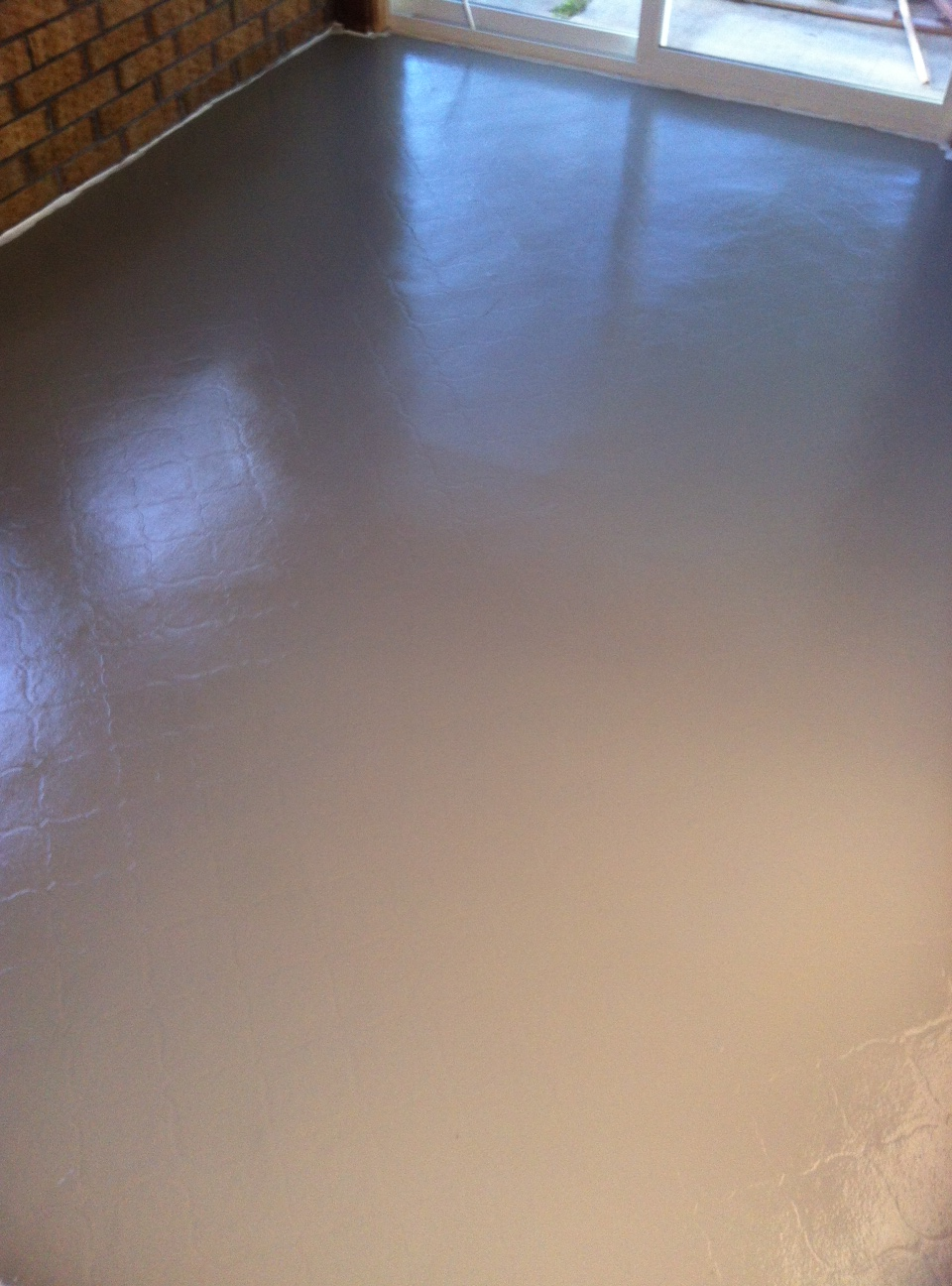 My $50 Floor: Painting Linoleum Flooring