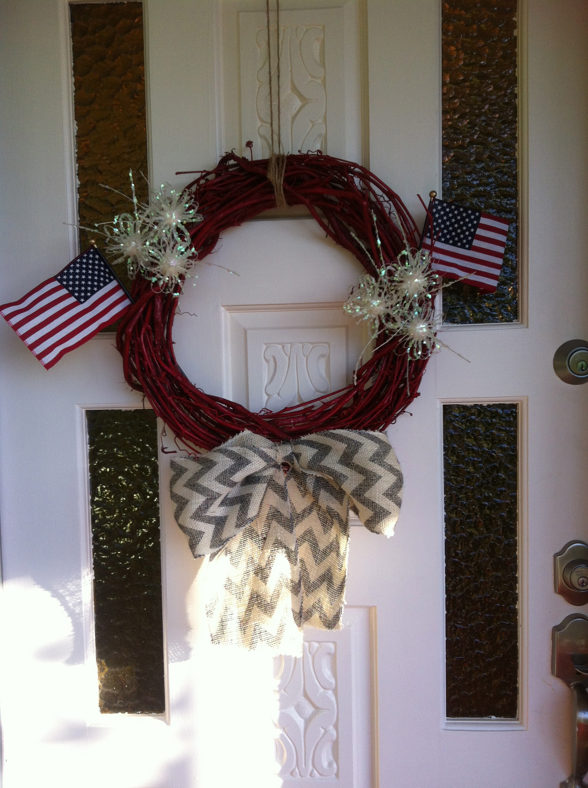 Curb Appeal Continued: DIY Patriotic Grapevine Wreath