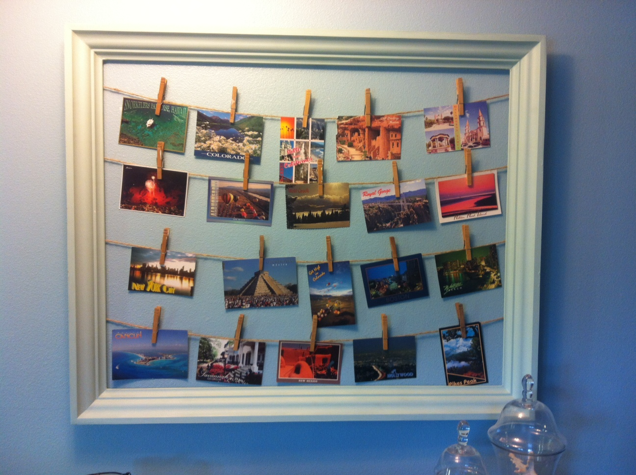 DIY Postcard or Christmas Card Display