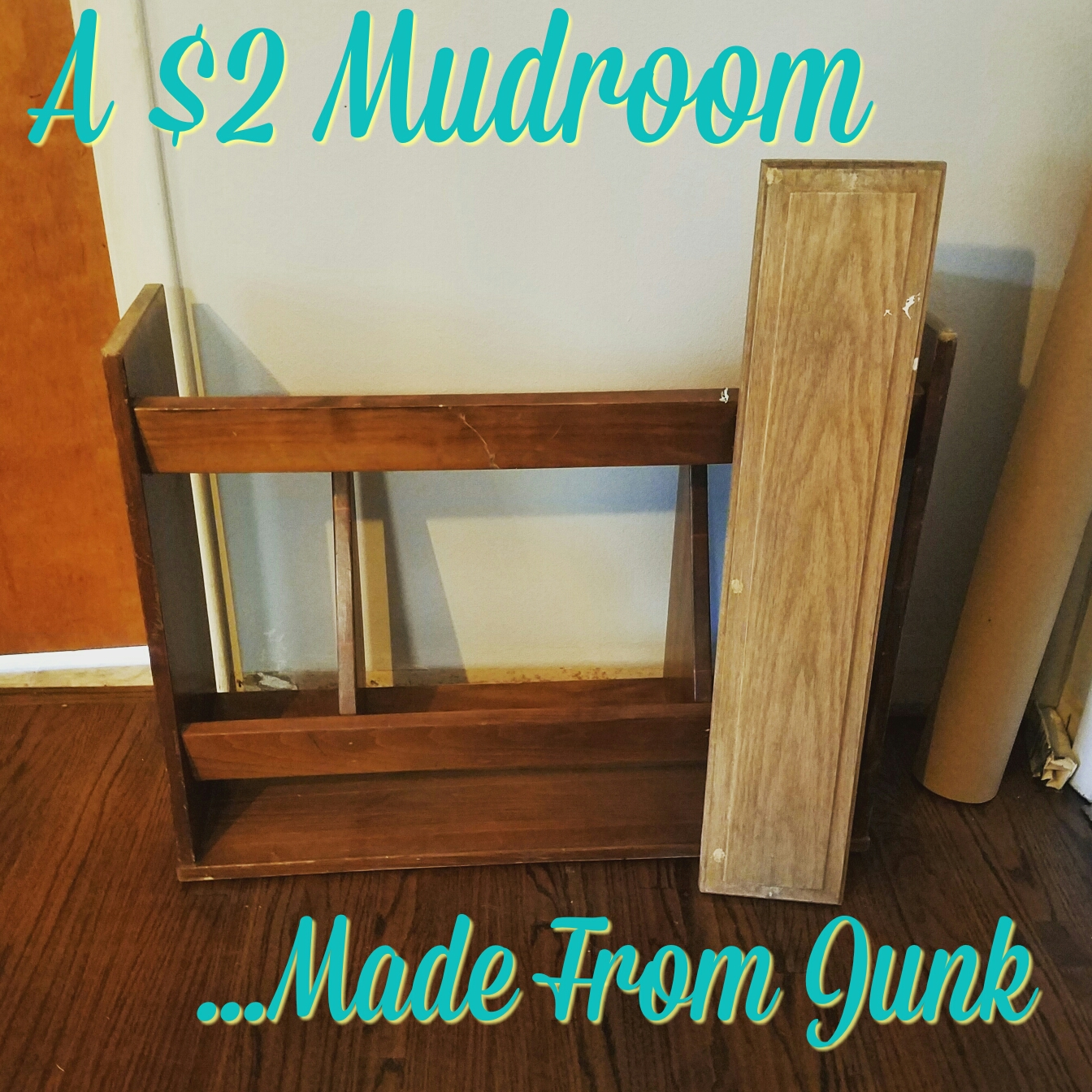 A $2 Mudroom Made From Junk