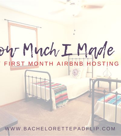 How Much I Made In My First Month of Airbnb Hosting