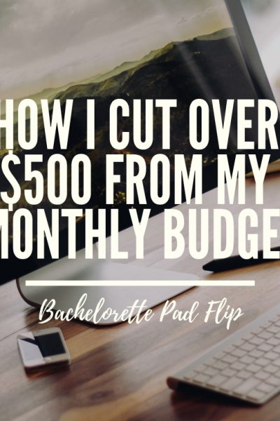 How I Cut Over $500 From My Monthly Budget