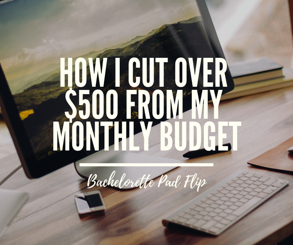 cut monthly expenses budget