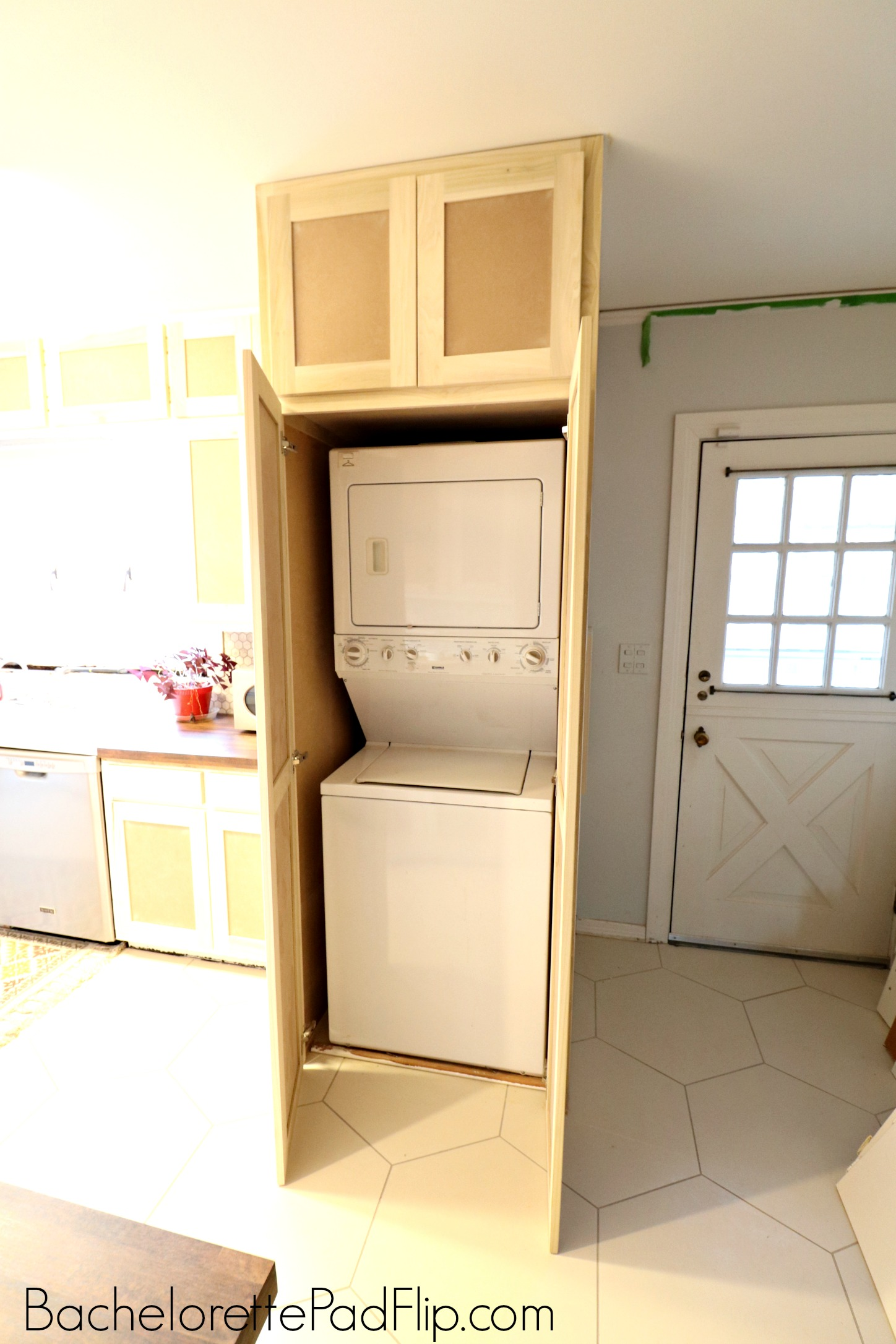 small laundry room cabinet