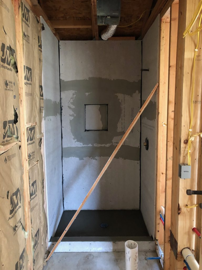 framing a custom shower