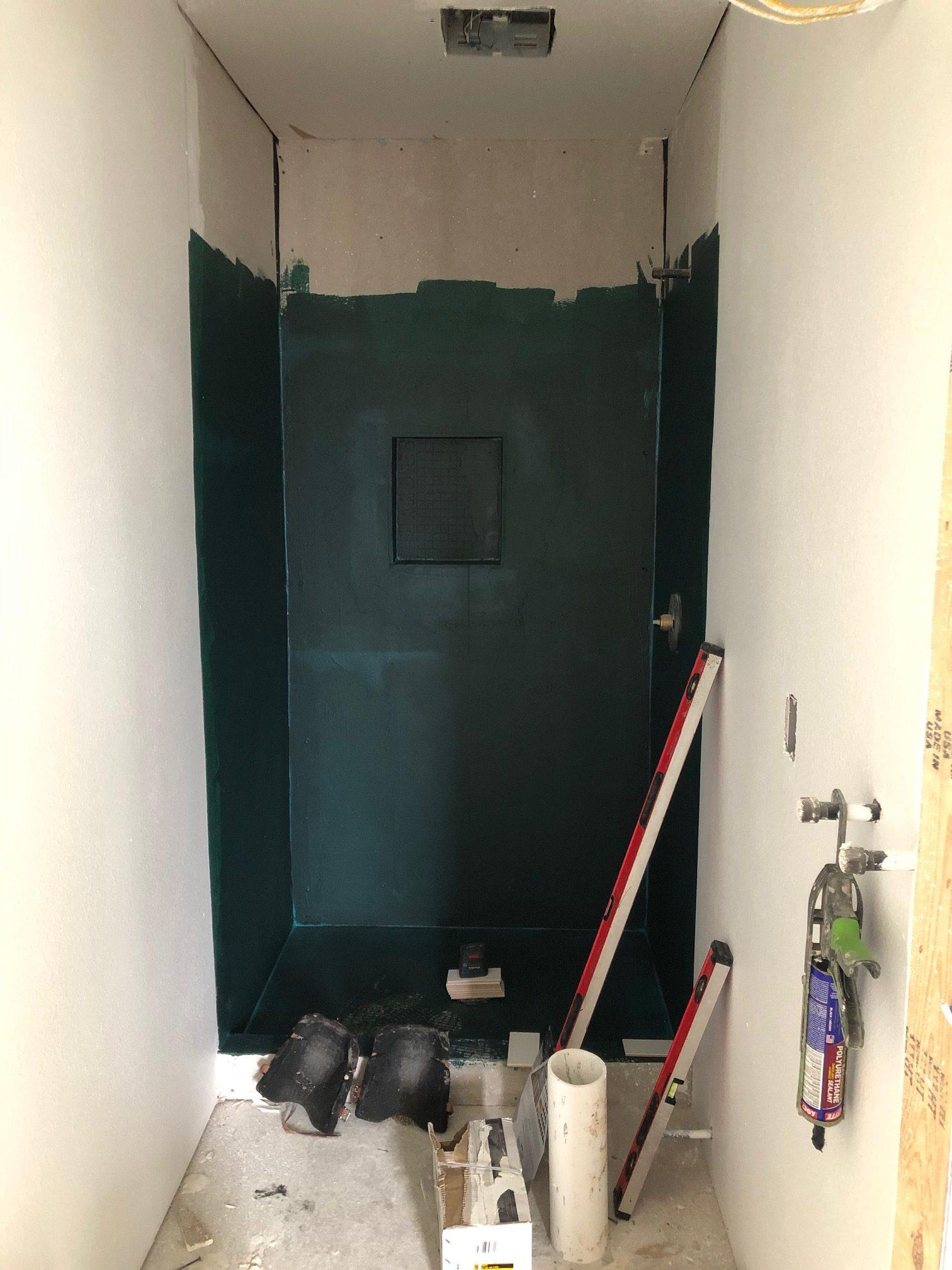 waterproofing shower before tile