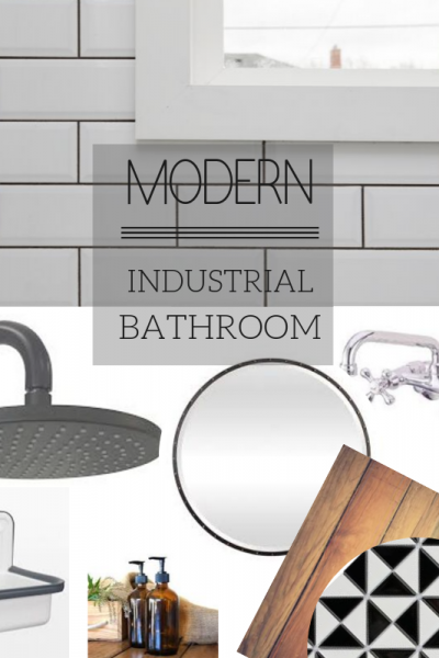 Modern Industrial Bathroom Transformation: One Room Challenge Week 1
