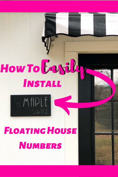 How To Install Floating House Numbers To Boost Curb Appeal