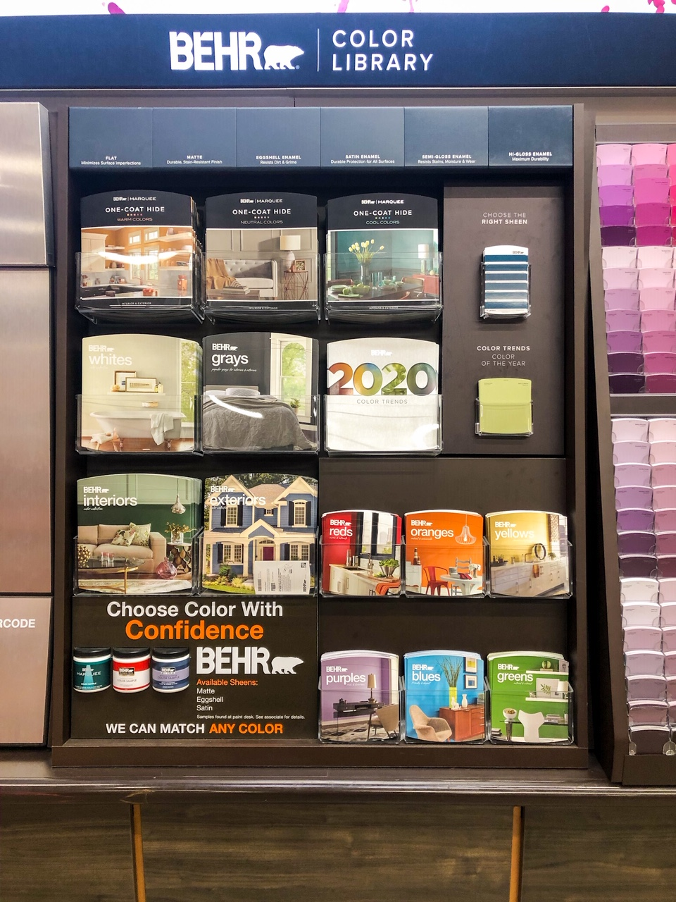 behr home depot color library