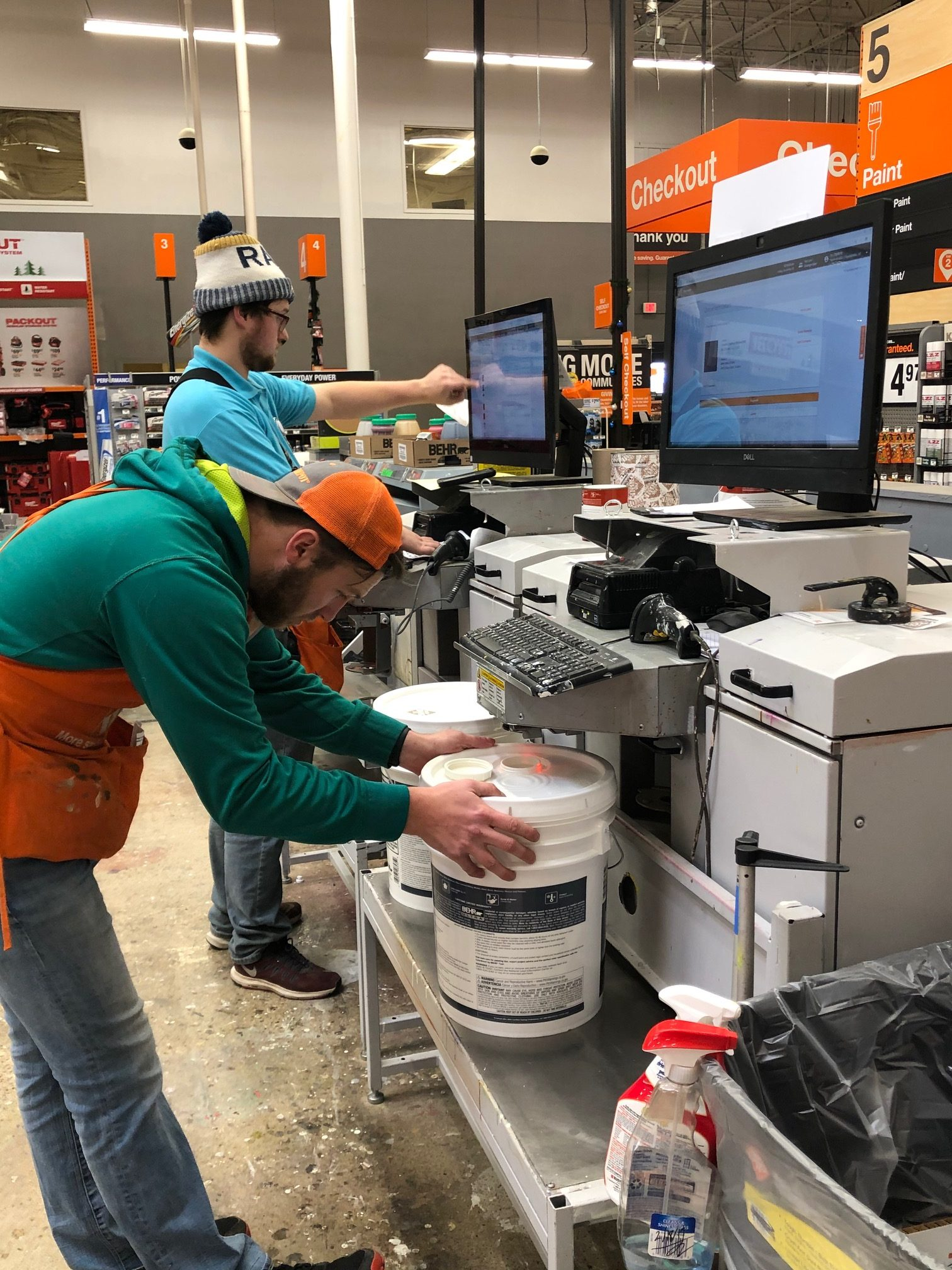 Home depot paint department