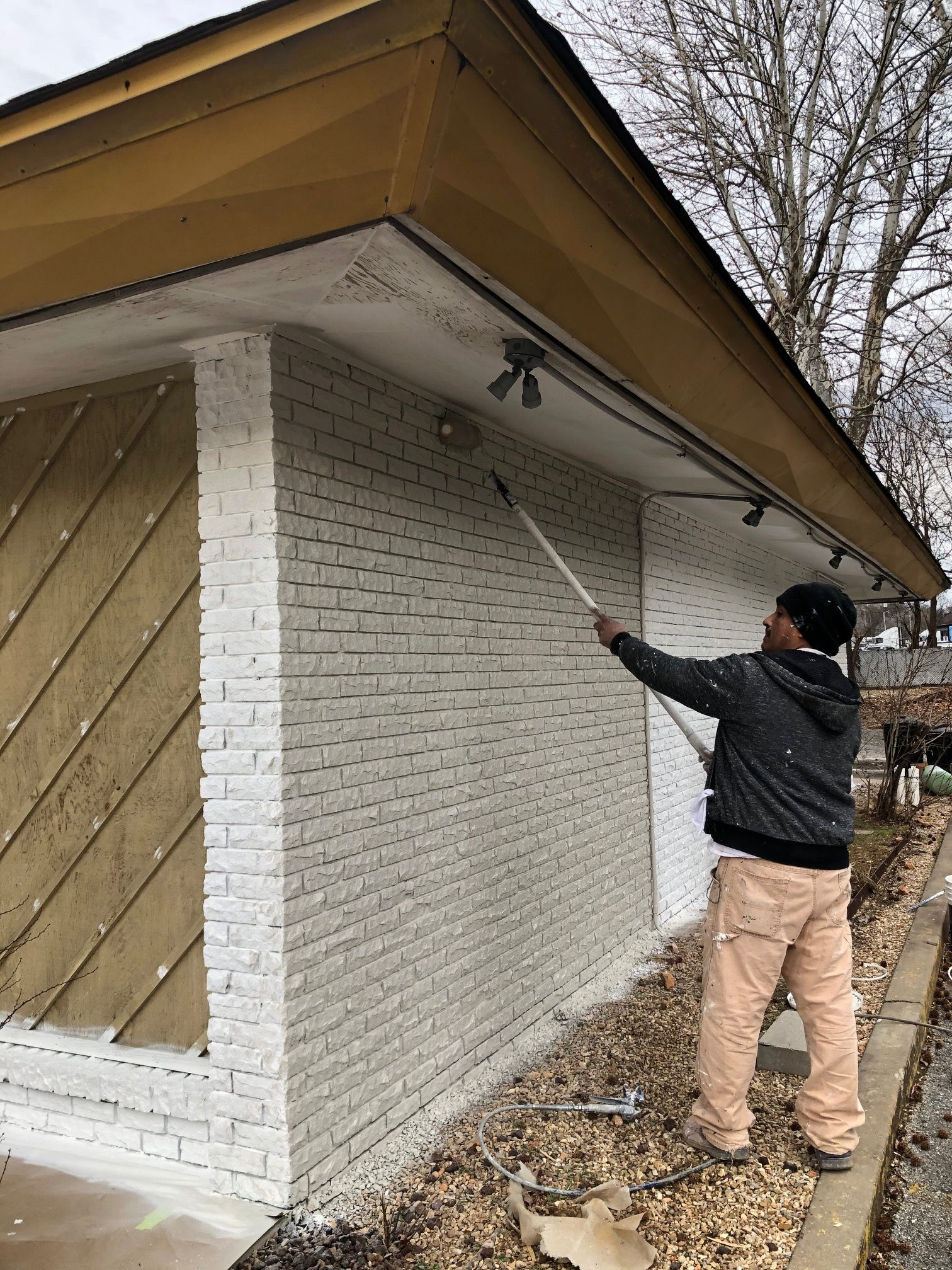 painting exterior brick home depot