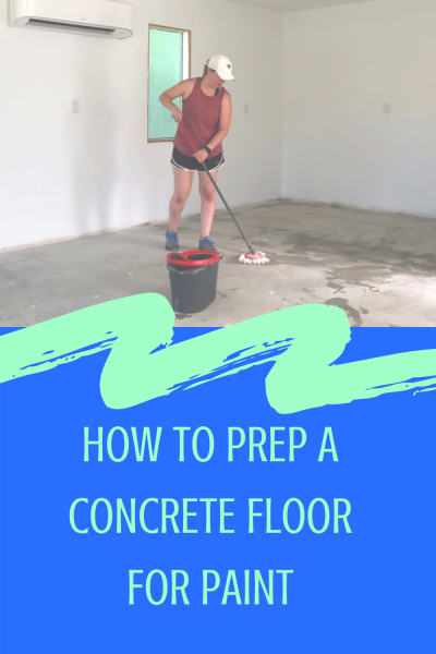 Prepping A Concrete Floor For Paint